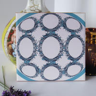 Capsule pattern Ceramic Tile Trivet with Cork Backing