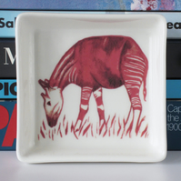 Okapi Design Ceramic Dish, 10 x 10cm, Many Uses