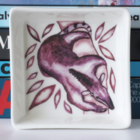 Tamandua or Tree Anteater Design Ceramic Dish, 10 x 10cm, Many Uses
