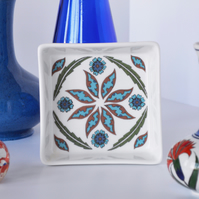 Ottoman Inspired Ceramic Dish, 10 x 10cm, Many Uses