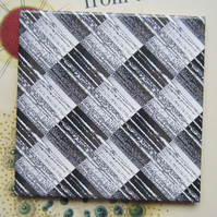 Grey Metallic Effect Design Ceramic Tile Trivet with Cork Backing - SALE ITEM