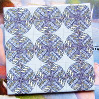 Lavender Inspired Design Ceramic Tile Trivet with Cork Backing - SALE ITEM