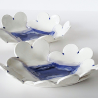 Handmade Ceramic Cloud and Blue Sky Dish - Perfect for Keeping Jewellery etc.