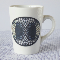 Geometric Fan Design Ceramic Mug - Price Reduced to Clear