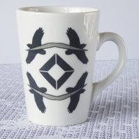 Bird of Prey Design Ceramic Mug - Price Reduced to Clear