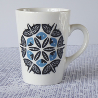 Snowflake Design Ceramic Mug - Price Reduced to Clear