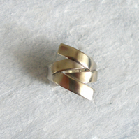 Twisted Silver Statement Ring, Large Silver Ring, Sterling Silver Ring,