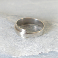 Handcrafted Sterling Silver Ring With Wrap Over Feature - 100% EcoSilver
