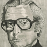 Michael Caine portrait
