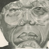Chinua Achebe black and white portrait