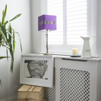 Purple lamp shade handmade using cotton & polyester, table lamp shade