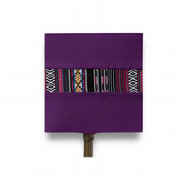 Purple square handmade lampshade