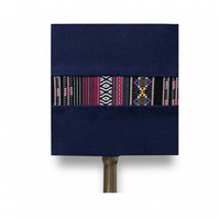 Navy blue square  handmade lampshade