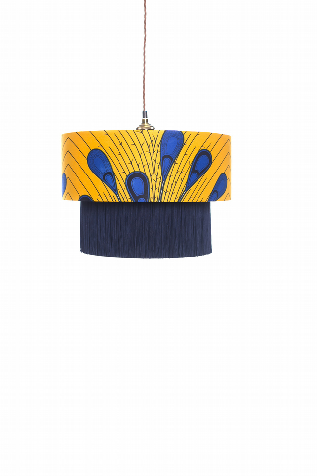 Blue Peacock Lampshade