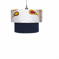 Yellow & Red Peacock Lamp shade