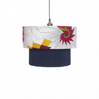Red & Yellow Star Lampshade