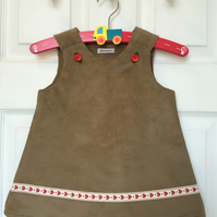 Girls Pinafore Dress, ages 6 months to 5 years