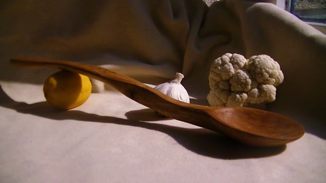 Handcarved Poplarwood serving spoon