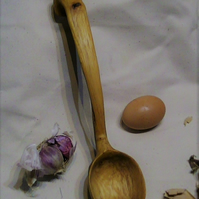 Hand carved Holly Soup and Stew Ladle