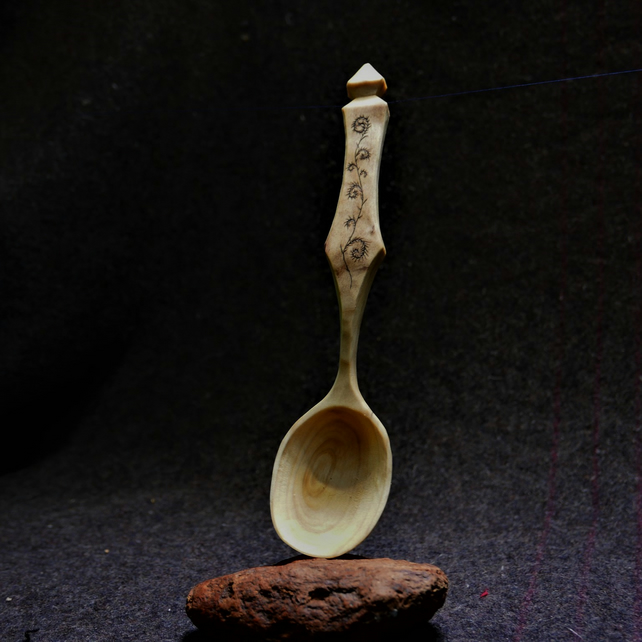 Tulipwood hand carved Serving Spoon