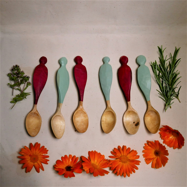 Handcarved Tulipwood Wooden Spoons