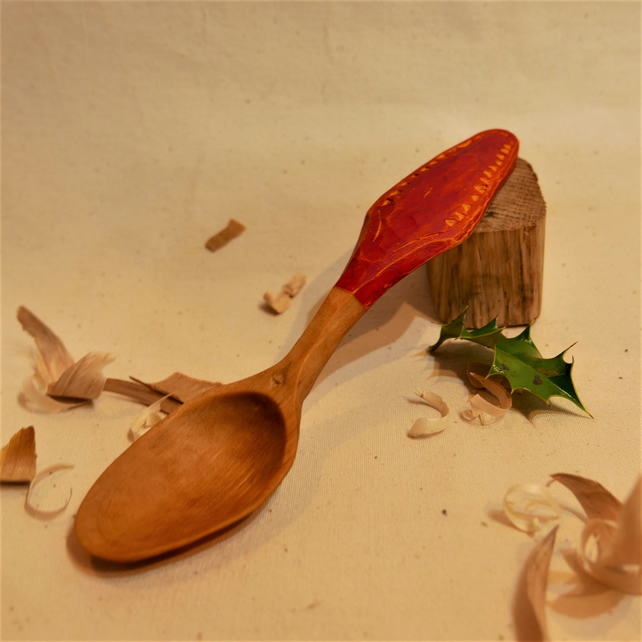 Handcarved Birch Eating Spoon