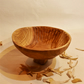 Hand carved Bowl in hedgerow wood.