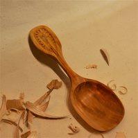 Handcarved Birch cooking scoop