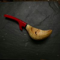 Large Maple Ladle handcarved from a branch burl.