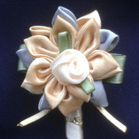 Wedding, occasion corsage,buttonhole - Gold