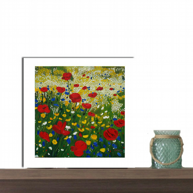 Giclee Print - art collectable - square print - signed by artist -