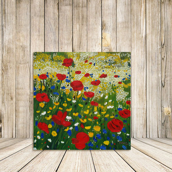 Poppy Madness Oil on Canvas Original art