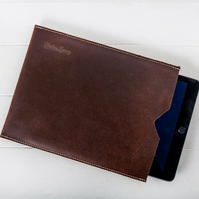 Leather iPad and tablet sleeve by Niche Lane