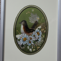Bird and daisies