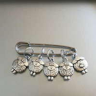Set of five Sheep Stitch Markers