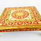 Handmade Low Side Table Meenakari Hand Painted Decorative Floral Design Table