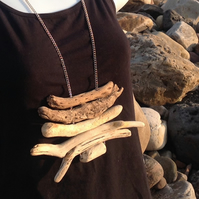 Driftwood pendant necklace- west wales coast beach find- boho chic