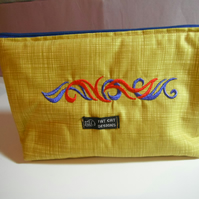 Embroiderd make up bag or pencil case