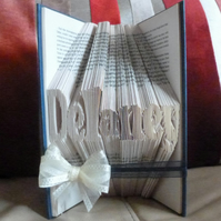 Folded Word or Name Book upto 7 Letters in Length - Small Font