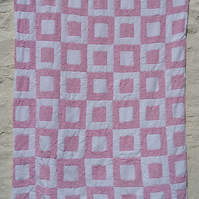 Pink Checkers Blanket
