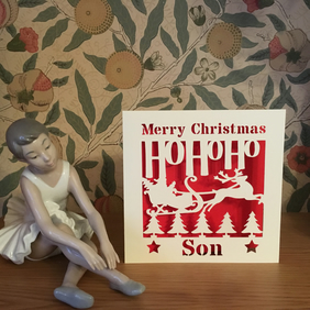 Merry Christmas Son Card - Papercut