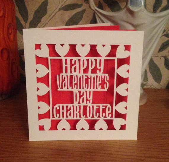 Papercut - Personalised Happy Valentine's Day Card