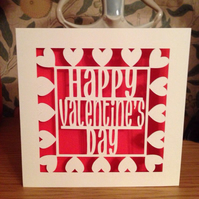 Papercut - Happy Valentine's Day Card