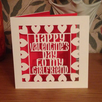 Papercut - Happy Valentine's Day to my Girlfriend Card