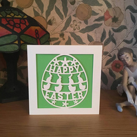 Easter Card - Papercut - Happy Easter Card - Easter Bunny - Easter Chick