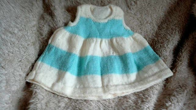 Lemon and mint green baby dress