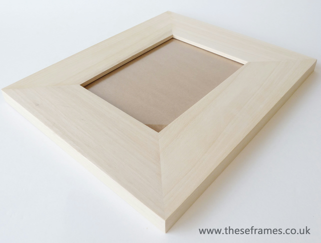 Pack of 5 - 72mm Wide Flat Bare Wood Frames 200... - Folksy