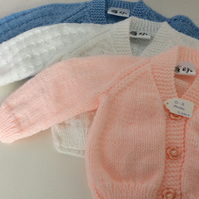 Babies Cardigan's 0-3 months suitable for Boys or Girls