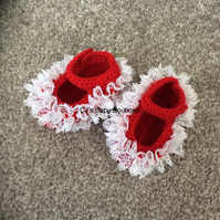 Hand Knitted Lace Shoe