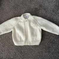 Girls Cream Cardigan